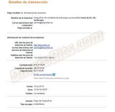 Primer pago recibido de la web de ganar dinero y repercusión social FanporFan: http://dinerobits.com/fanporfan-paga/