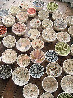 ceramic bowls by aida dirse of lithuania