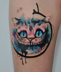 Aleksandra Katsan > Cheshire Cat #tattoo #ink #art