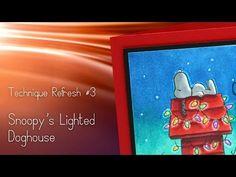 Technique Refresh: Snoopy's Christmas Lights | Sandy Allnock