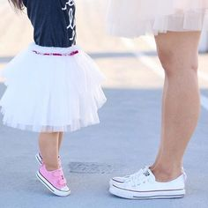 toddler style, baby tulle skirt, mommy and me photoshoot, chucks for days, Space 46 tulle