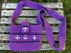 Beaded CrossBody Bag  Hand Crocheted  Purple Lavender by USewWhat, $19.00