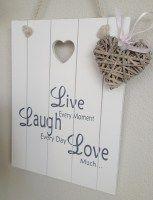 Bord Live Laugh Love
