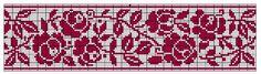 Border 60 | Free chart for cross-stitch, filet crochet | gancedo.eu