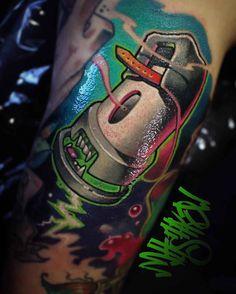 New School Tattoo Design