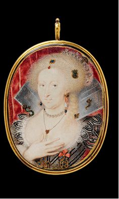 Pendant, Miniature portrait  of Queen Anne of Denmark (1574–1619)