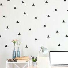 Geometric patterned wallpaper black n white triangles