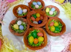 Cookie nests with jelly bean or Cadbury eggs.