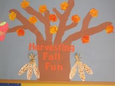 Fall Tree Bulletin Board