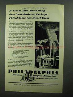 1931 Philadelphia Business Progress Association Ad