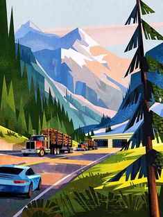 David Moore is a talented Canadian artist .-Дэвид Мур — талантливый канадский художник… David Moore is a talented Canadian artist and illustrator - Landscape Artwork, Landscape Illustration, Graphic Design Illustration, Digital Illustration, Graphic Art, Landscape Concept, Posca Art, Scenery Wallpaper, Illustrations And Posters
