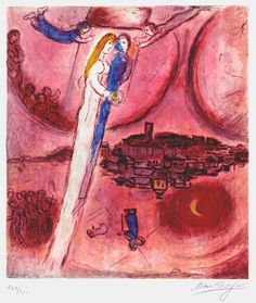 Marc Chagall The Song of Songs (Le cantique des cantiques ), an original, hand-signed Chagall lithograph. Masterworks Fine Art
