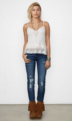Lace-Trimmed Cami - Denim & Supply