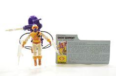 Vintage Cobra GI Joe 1991 Snow Serpent V.2 100% Complete w/ File Card #Hasbro