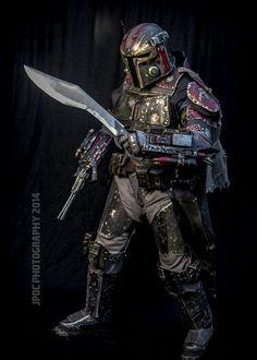 All Metal Costume of the Mandalorian Merc