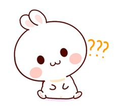 LINE Creators' Stickers - Happy bunny Sunny 2 Example with GIF Animation Cute Cartoon Images, Cute Cartoon Drawings, Cute Love Cartoons, Cartoon Gifs, Cute Cartoon Wallpapers, Happy Stickers, Funny Stickers, Cute Kawaii Animals, Love Is Comic