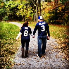 Save the Date football jerseys...You're already married but isn't this SO cute @Tami Maldonado
