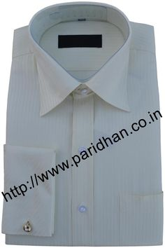 Dazzling ivory cotton shirt made in cotton fabric.