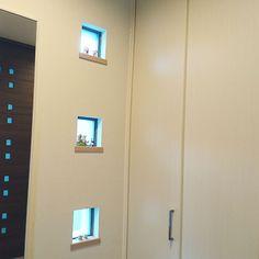 Entrance/全身鏡/ブロックガラス/センサーで点灯/シンプルインテリア/インテリア雑貨いろいろ...などのインテリア実例 - 2016-12-16 03:34:51