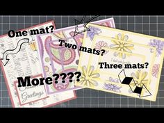 (6) Card Making Series:  All About Matting Cards - YouTube