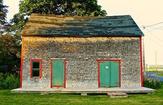Barn in Victoria by the Sea, Prince Edward Island taken by Maria Campbell