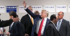 """Donald J. Trump's remarks took hours to penetrate over social media, but by Friday morning, Democrats were calling him out. Jeb Bush was one of the first Republican presidential candidates to respond, calling Mr. Trump's words """"just wrong."""""""