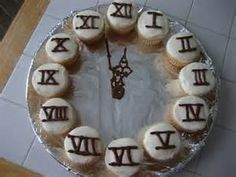 New Year's Eve Countdown Clock Cupcakes