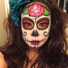 Sugar Skull Halloween Makeup Day of the dead