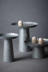 galvanized pedestals...love Anthro's wedding site