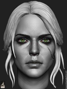 Ciri done for custom witcher series of action figures  https://www.instagram.com/hossein.diba https://www.facebook.com/TheArtofHosseinDiba
