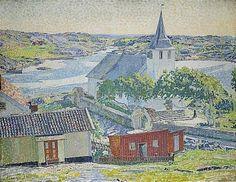 Carl Wilhelmson (1866-1928): Kyrkan - Fiskebäckskil, 1914