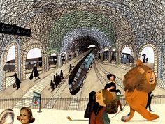 «Лев в Париже» (Un Lion à Paris) Автор: Беатрис Алемана Художник-иллюстратор: Беатрис Алемана ( Autrement Jeunesse (2006) http://www.bl-school.com/blog/beatrice-alemagna/