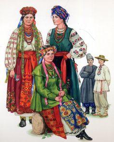 Ukrainian costume of the Eastern Polesie region.