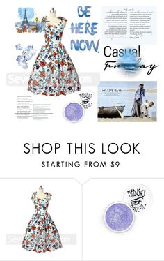 """Seven grils 53"" by difen ❤ liked on Polyvore featuring vintage"