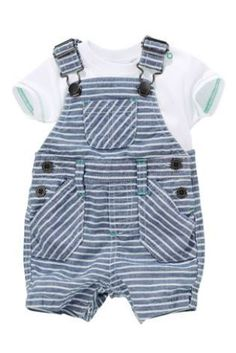 c96815ce2c4ad Buy Fine Stripe Dungarees With Bodysuit from the Next UK online shop