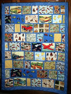 Nate's I Spy Quilt - by jennie-robyn Baby Clothes Quilt, Baby Boy Quilts, Kid Quilts, Small Quilts, Scrappy Quilts, Easy Quilts, Quilting Projects, Quilting Designs, Quilting Ideas