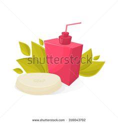 Vector pink soap - stock vector