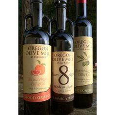 Local (for me), fresh Oregon Olive Oils!  Beautiful olive oils and vinegars too.... Blood Orange Extra Virgin Olive Oil?! Fig Vinegar?! Gifts for me!! :)http://redridgefarms.com/oregon-olive-mill  Durant Vineyards and Oregon Olive Mill
