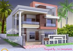 North Indian Style Flat Roof House With Floor Plan