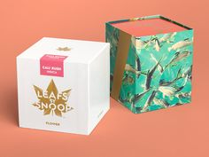 hip-hop legend snoop dogg has teamed up with graphic design powerhouse pentagram to brand his new line of marijuana-based products, 'leafs by snoop'.