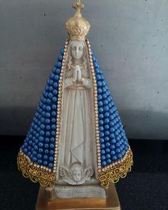 Nossa Senhora Aparecida  em pérolas 20cm. Compre aqui: Instagram: @blessedartes