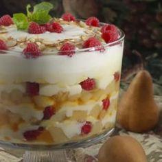 Roasted Pear Trifle Recipe  eatingwell.com