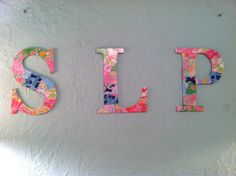 letters made out of old lilly agenda pages