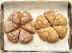 Recipe: Harvest Pumpkin Scones - just needs more sugar, more salt, more mixed. Pumpkin Whoopie Pies, Pumpkin Scones, Baked Pumpkin, Canned Pumpkin Pie Filling, Pumpkin Delight, King Arthur Flour, Baking Flour, Dessert Bread, Fall Baking
