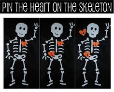 •❈• pin the heart on the skeleton, great game everyone loves ✿