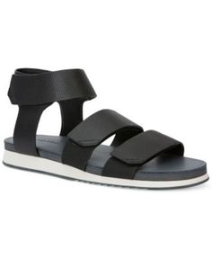 Calvin Klein Men's Colton Tumbled Leather Strap Sandals