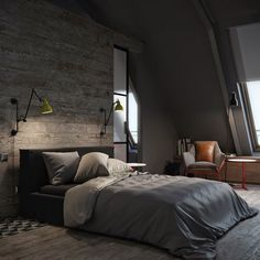 Modern mens bedroom modern bedroom bachelors pad bedrooms for young energetic men modern masculine bedroom ideas Bedroom Ideas For Men Bachelor Pads, Bachelor Pad Bedroom, Bedrooms For Men, Modern Bedrooms, Girl Bedrooms, Room Ideas Bedroom, Bedroom Colors, Home Decor Bedroom, Bedroom Boys