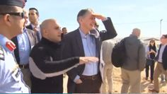 British Foreign Secretary Philip Hammond visiting Zaatari refugee camp in Jordan