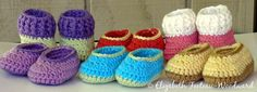Infant Crocheted Bootie-Slippers | Say-Very Sweet Things