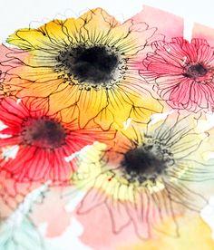 alisaburke: a peek inside my sketchbook- one bouquet 3 ways